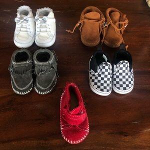 Size 3 lot of Minnetonka/Vans/Robeez